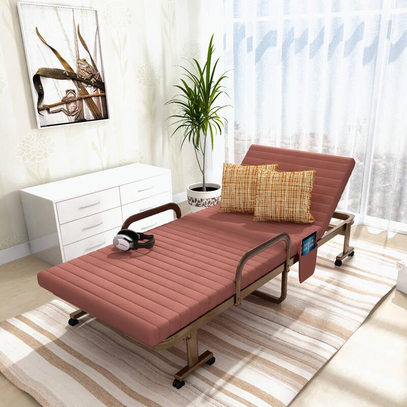 美达斯 咖啡色可折叠沙发床