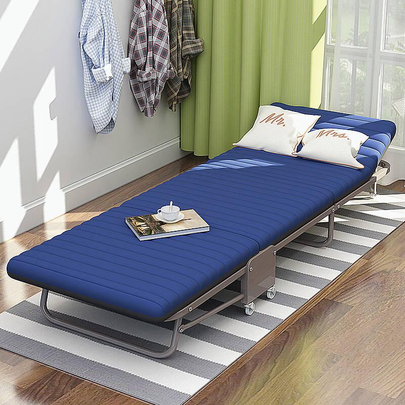 美达斯 藏青高弹海绵折叠床