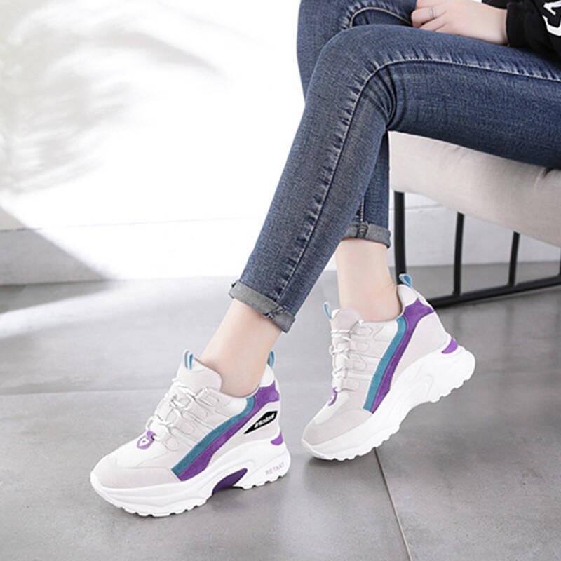 2021十款女式运动休闲内增高鞋