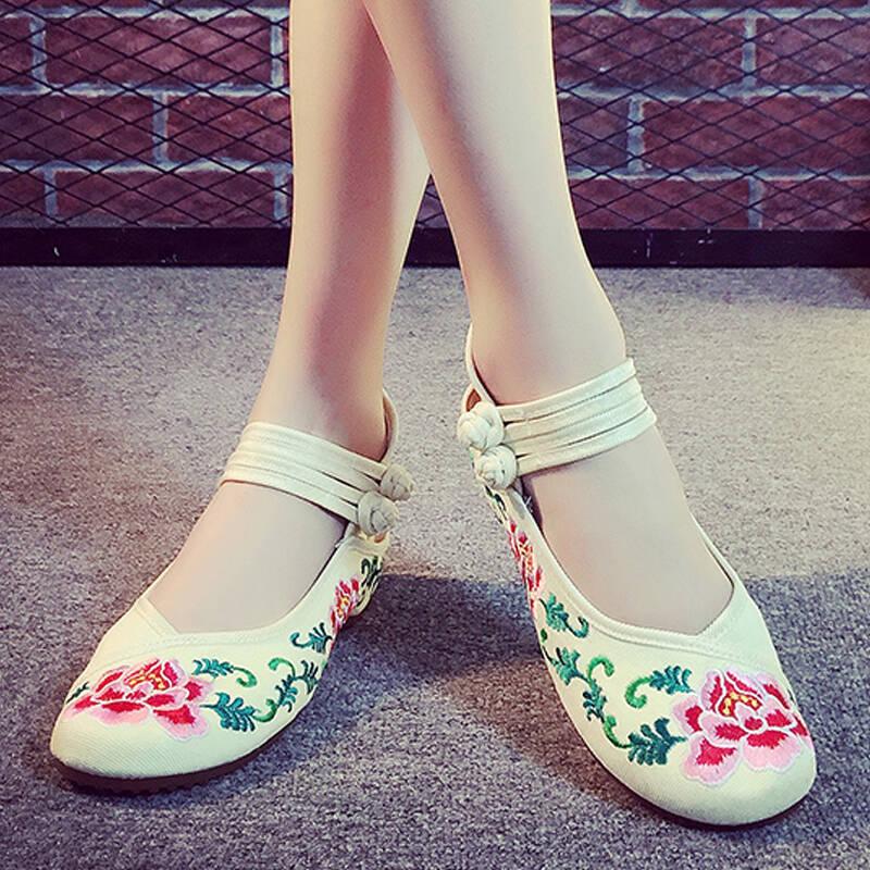女士复古绣花鞋排名前十名