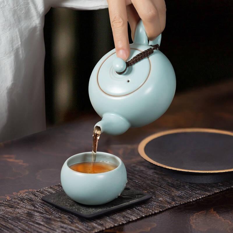 薄胎厚釉纹理精美的整套茶具精选
