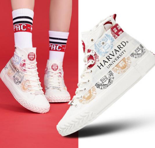 安踏哈佛联名帆布鞋