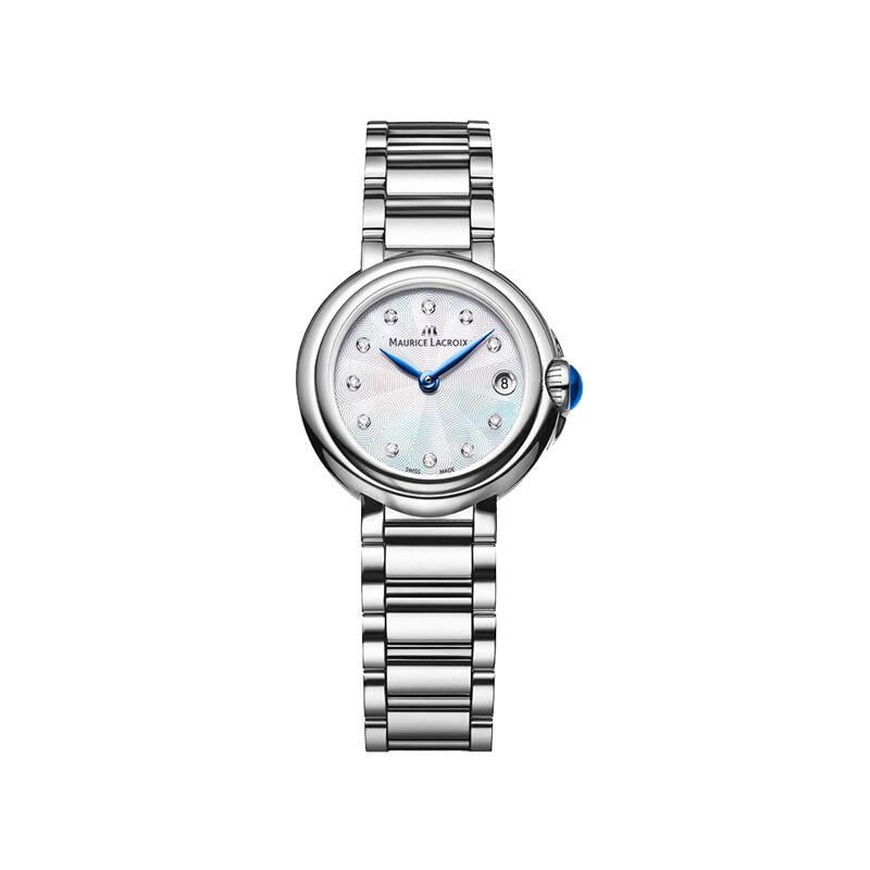艾美 白色珍珠贝母表盘镶钻手表