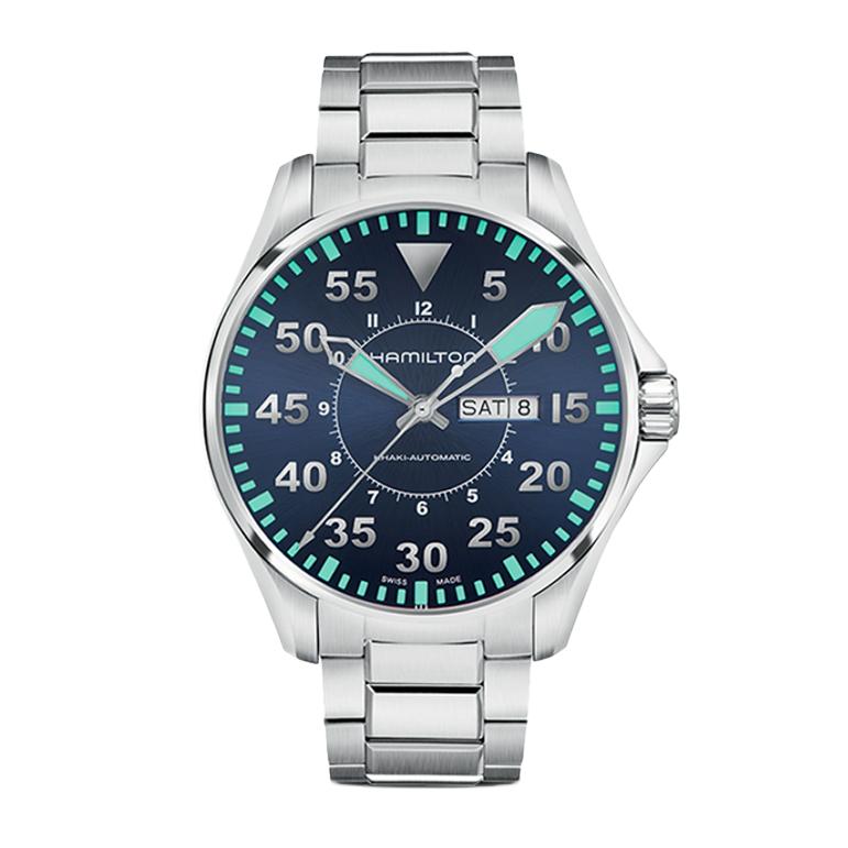 汉米尔顿 卡其航空系列双历手表