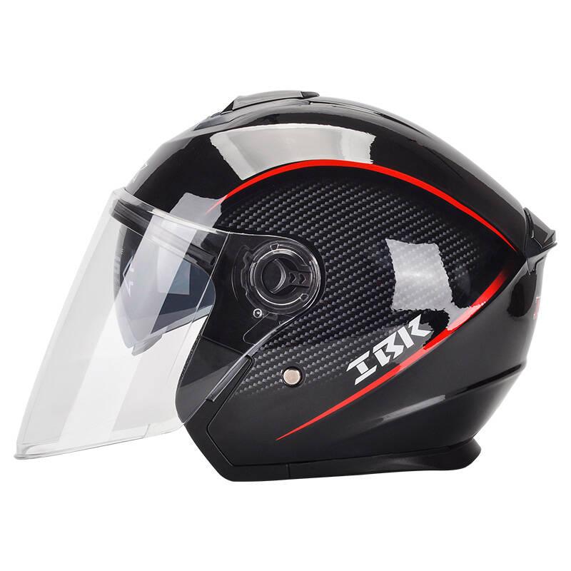 IBK 黑红碳纤纹头盔
